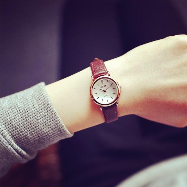韓國潮流 森女錶 簡約皮帶學生復古圓形小巧氣質小清新手錶