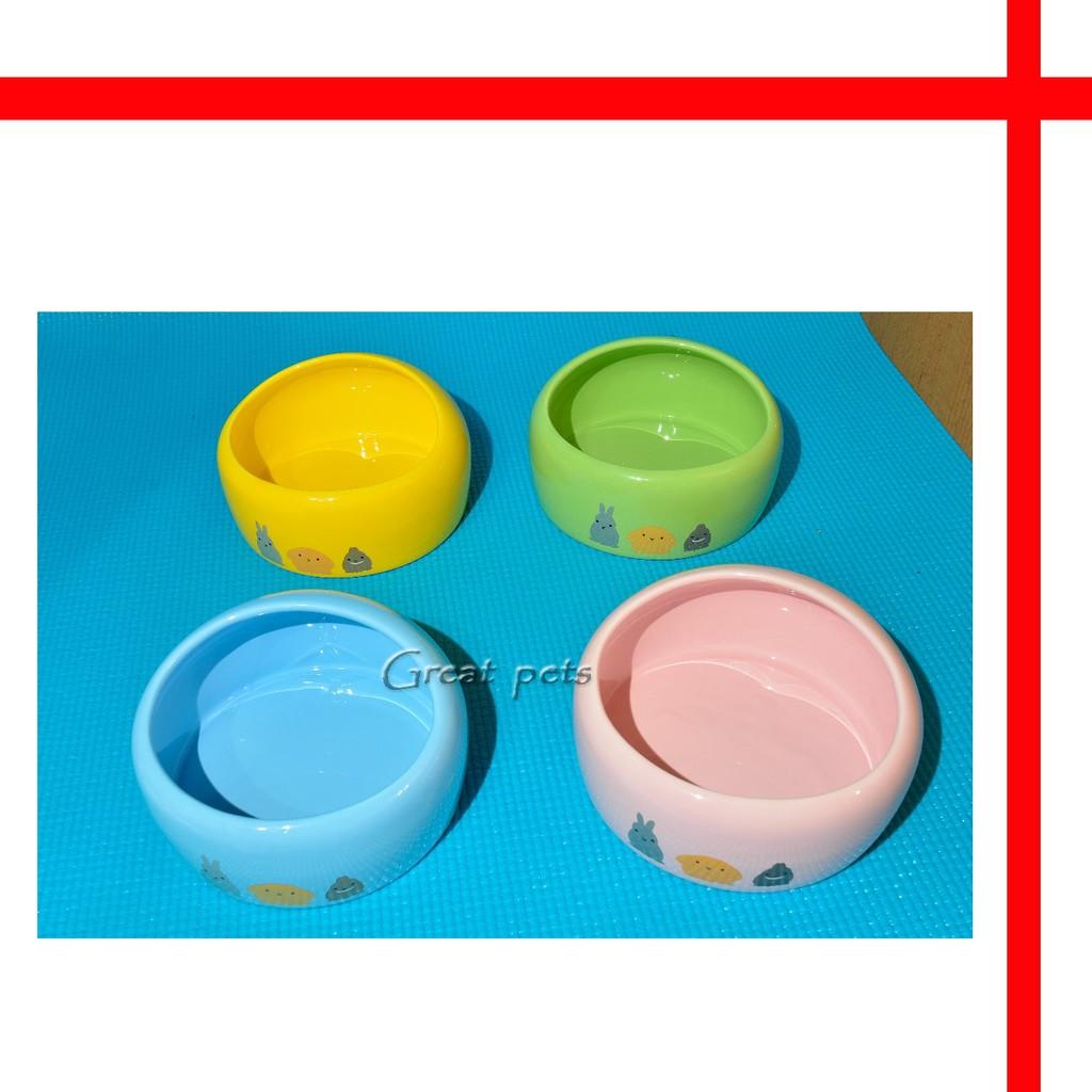 ~格瑞特寵物~MB03 半圓頂食物碗大兔兔食盆可做倉鼠小窩或厠所!食盆陶瓷碗