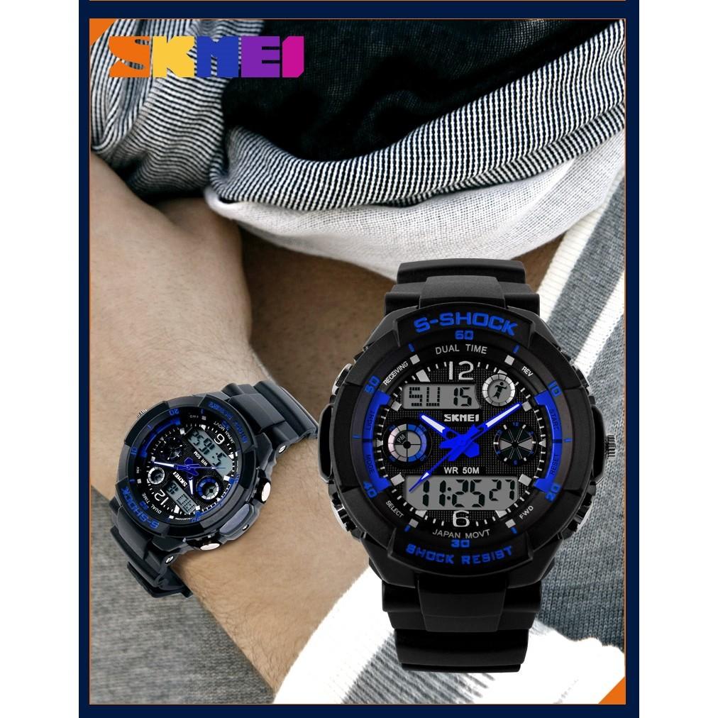 SKMEI 時刻美男女情侶對錶兒童錶防水LED 手錶發光夜光男錶女錶 錶電子錶冷光錶