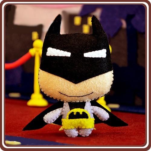 ~免剪裁~不織布 DIY 材料包英雄來襲玩偶掛件蝙蝠俠