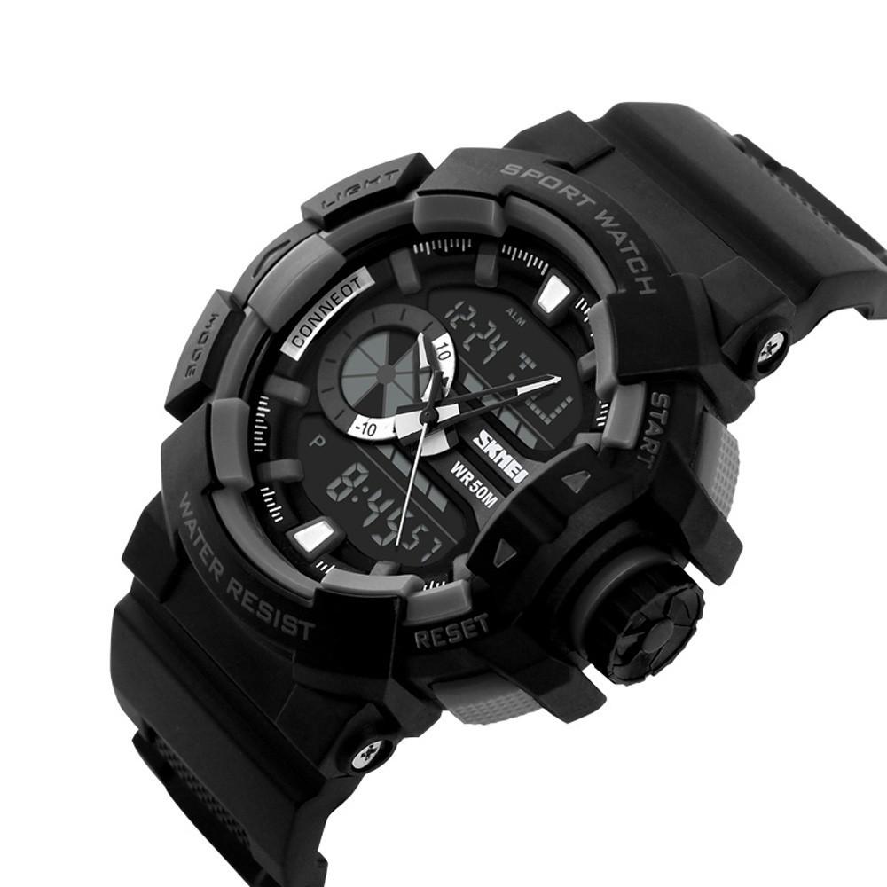 SKMEI 陽光型男PU 皮男士 手錶電子錶腕錶