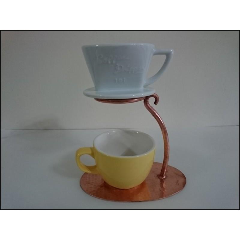 M06 咖啡手沖支架單孔紫銅制手沖咖啡濾杯架手沖架濾杯架純銅