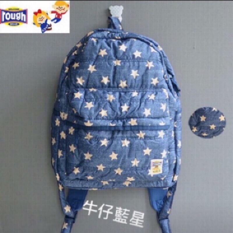 rough 超輕量大容量太空棉媽媽後背包兒童休閒書包