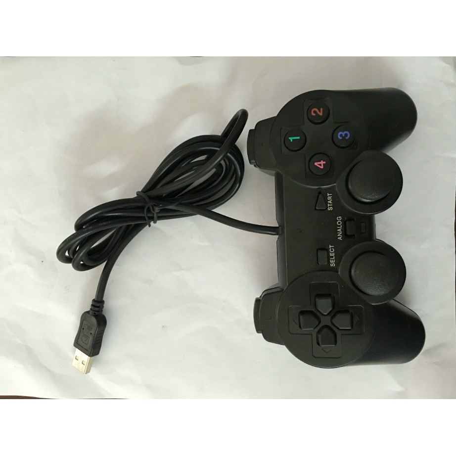 電腦PC 機USB 遊戲手柄單打單振動PS2 外型USB 手柄遊戲手柄