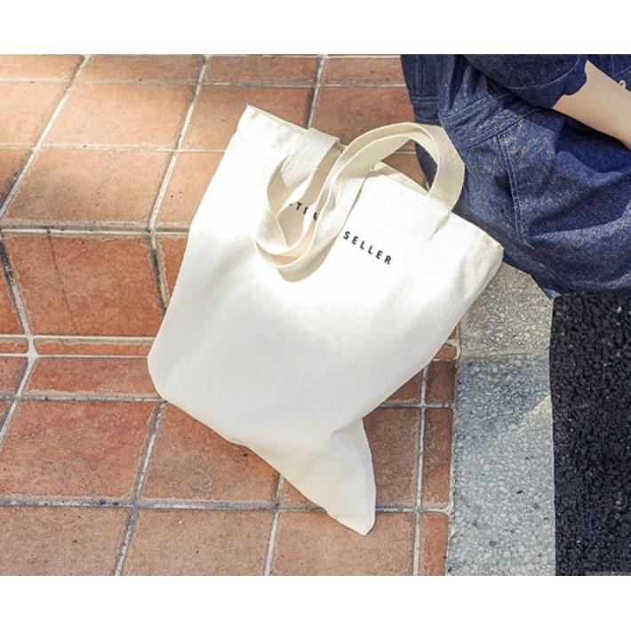 拉鍊帆布包 包肩背包書包手提包單肩包手提袋純色字母帆布包大帆布袋