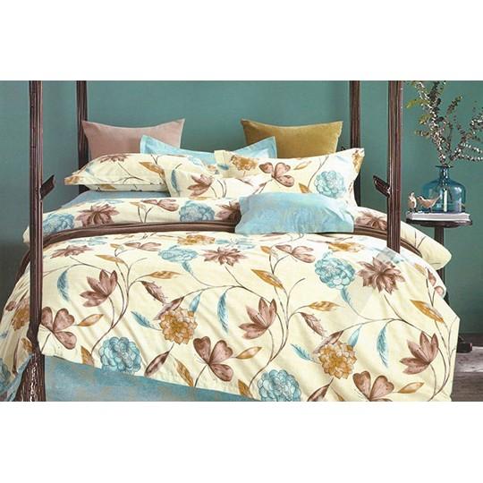 【超取 】【婉約佳人】100 精梳純棉單人雙人加大特大薄床包薄被套鋪棉床包鋪棉兩用被
