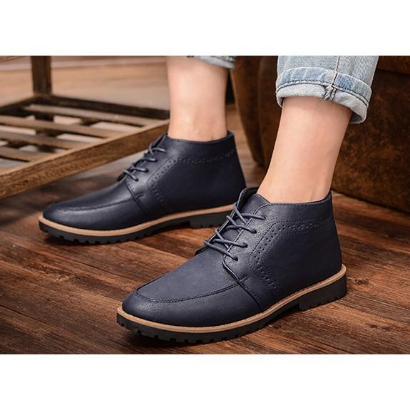 潮流英倫馬丁靴男真皮男靴子復古男士短靴工裝靴男軍靴沙漠靴潮靴
