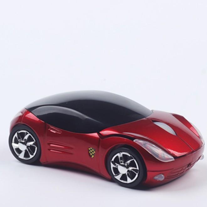 ~電池版法拉利跑車滑鼠~筆記本臺式電腦卡通可愛電池無線滑鼠