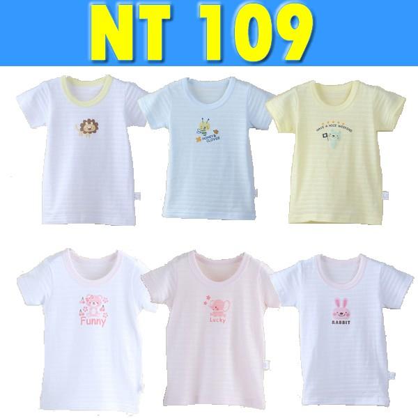 五折專區321go  出口 竹節棉純棉印花嬰兒短袖上衣睡衣內衣上衣308