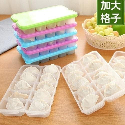單層帶蓋水餃盒保鮮盒微波解凍收納盒~A420 ~樂