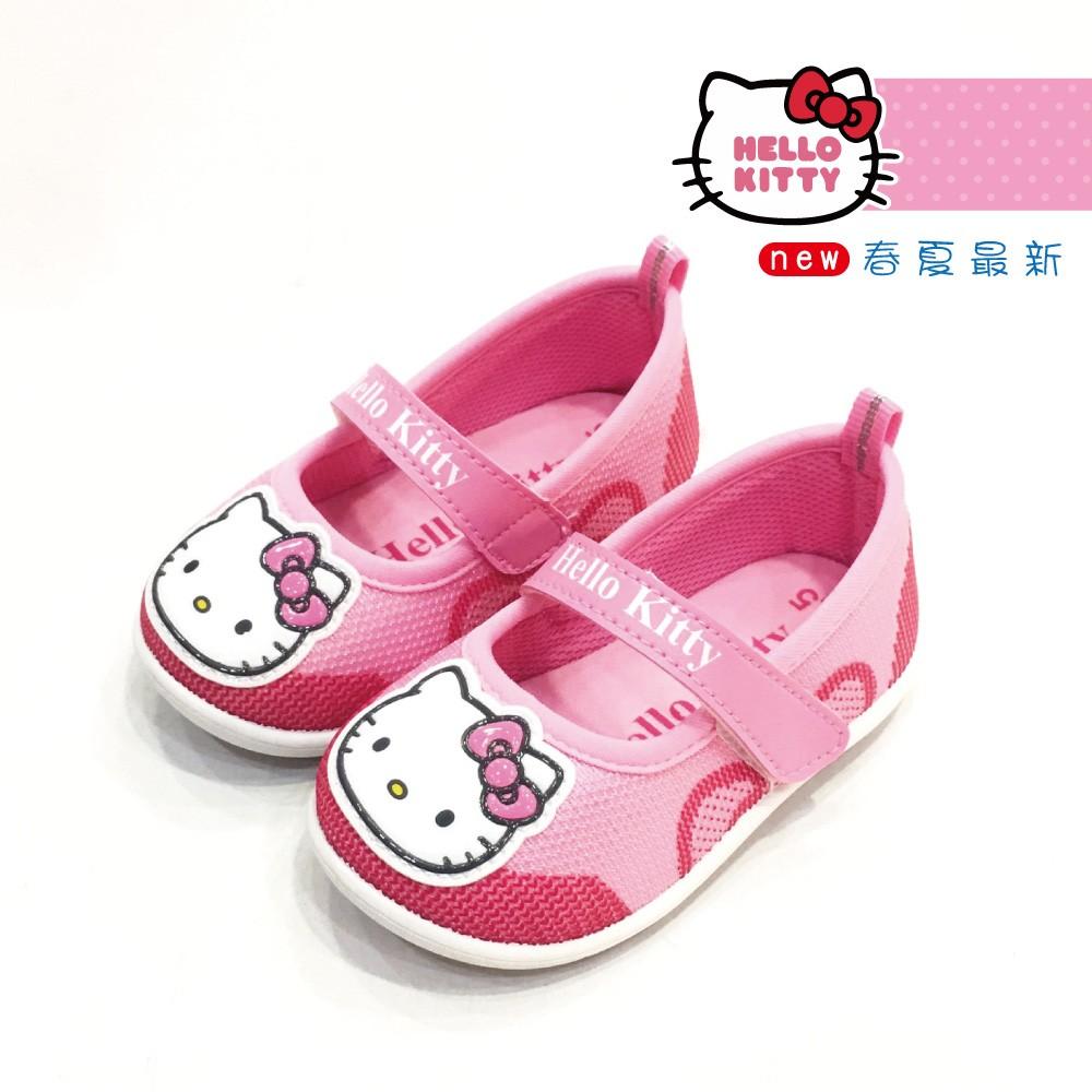 ~街頭巷口Street ~Hello Kitty 凱蒂貓可愛大頭KT 透氣網布鞋面休閒娃娃