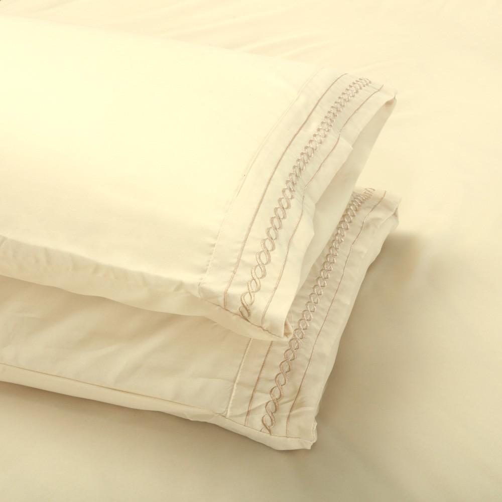 多色2 個装素色枕頭套枕套枕巾簡單純粹