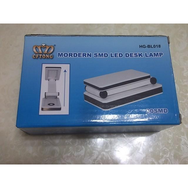 3248 摺疊燈折疊LED 燈床頭燈書燈桌燈隨身帶可外接行動電源功電折疊夾子小台燈