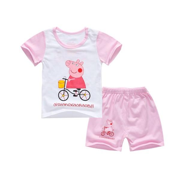 花露米 純棉2017 嬰幼兒T 恤短袖短褲套裝1 2 3 4 5 歲虧本 粉紅豬小妹佩佩豬
