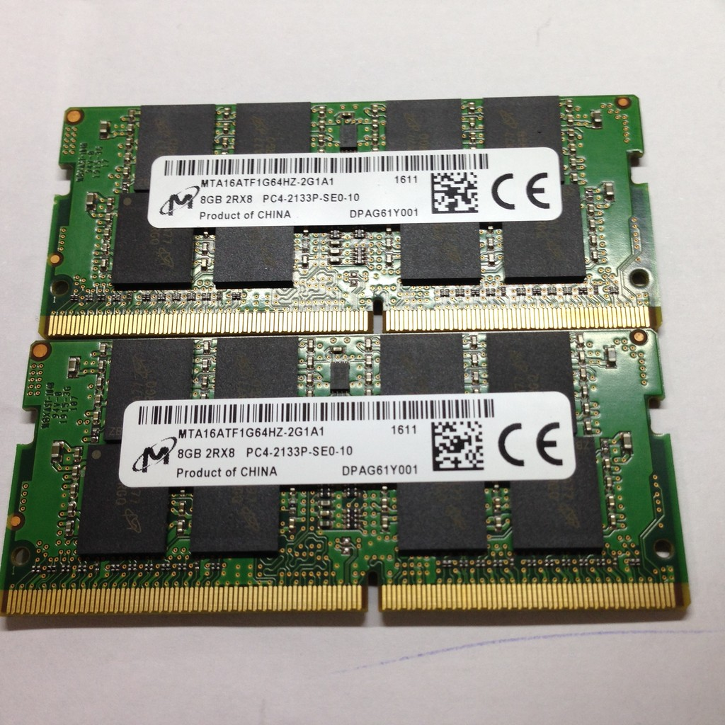 美光NB Micro Crucial MTA16ATF1G64HZ 2G1A1 DDR4