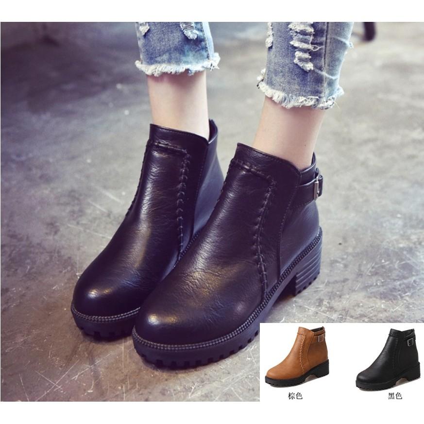 英倫風粗跟馬丁靴馬丁靴短靴粗跟靴短跟靴女靴雪靴靴子高跟靴