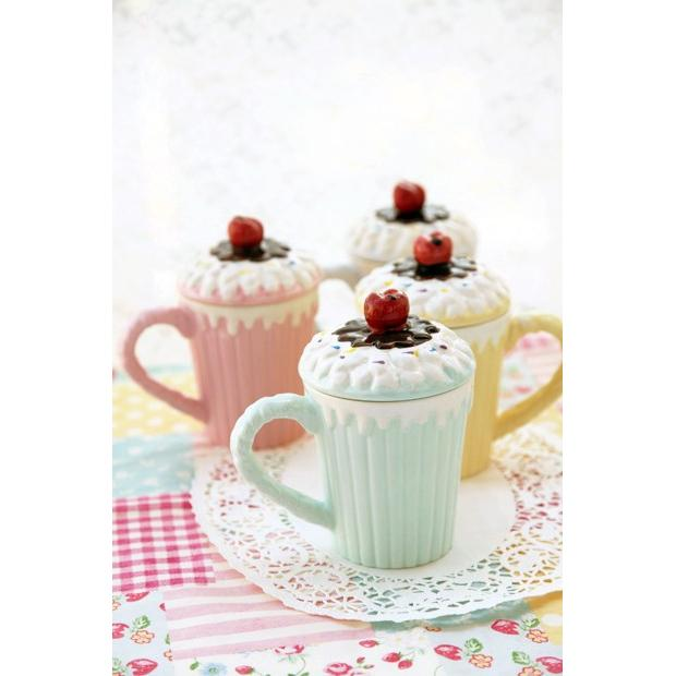 ChocoTeddy 巧克力熊◆陶瓷蛋糕杯✨點心杯✨杯子