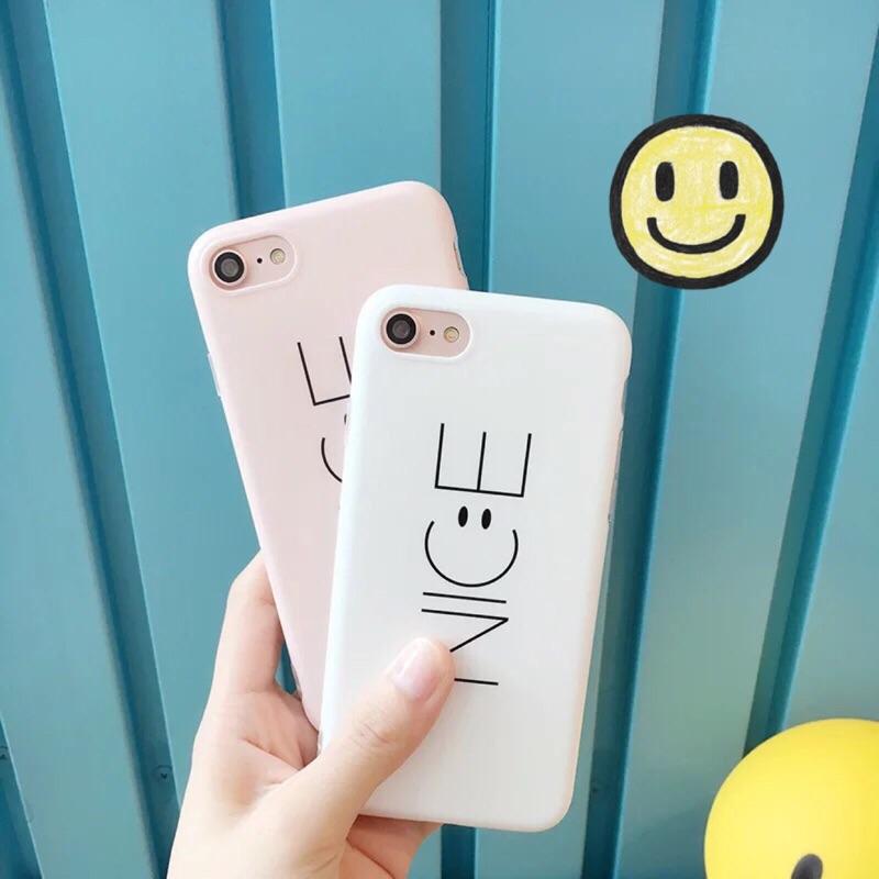 IPHONE7 7plus Nice to meet you 全包軟殼手機殼(白色粉色)