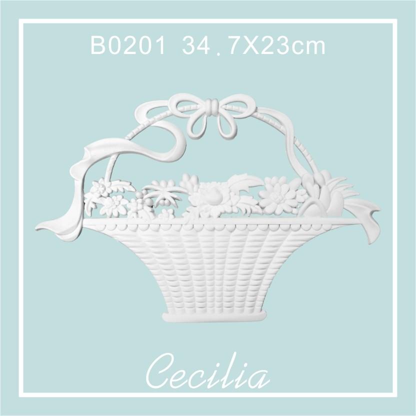 Cecilia 貼花片裝飾花線板雕花 牆壁裝飾英式法式歐式田園鄉村風復古浮雕B0201