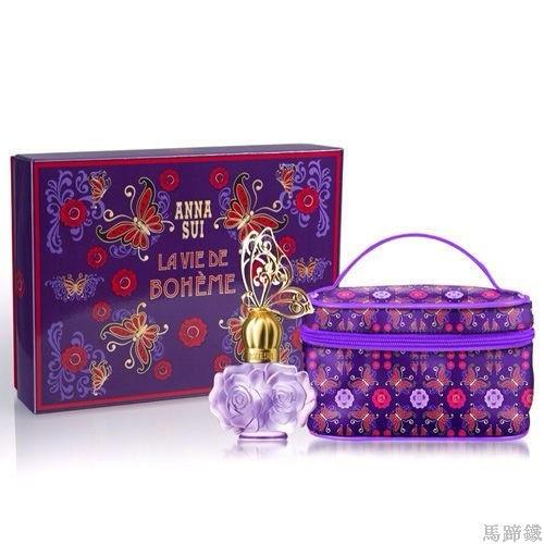 { 馬蹄鐵 Ω }Anna Sui 安娜蘇 紫蝶戀 春季禮盒 30ml淡香水+化妝包