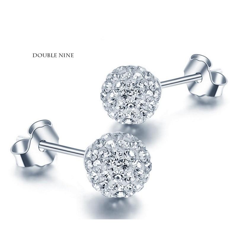 ~925 純銀~水鑽耳飾銀飾輕奢鑲鑽水鑽耳環s232