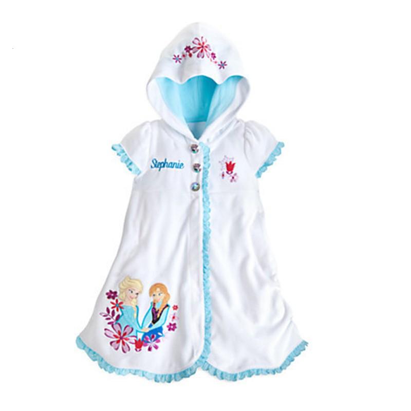 女童連衣裙連連帽冰雪白色連衣裙夏天2 5 歲