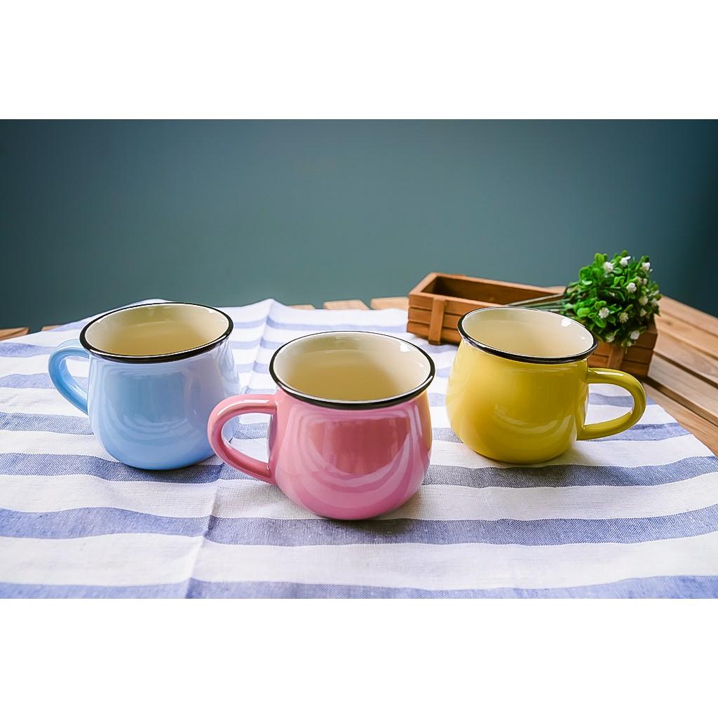 ~露營好物~簡約陶瓷馬克杯早餐杯咖啡杯大肚杯牛奶杯