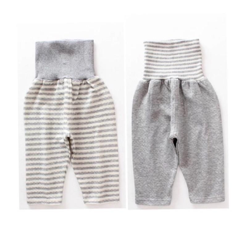 ~ ~ 西松屋原單男童寶寶空氣層有機純棉柔軟舒適居家服長褲睡褲高腰護肚褲腹卷褲