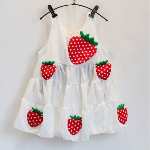 ✨春夏6 折✨女童可愛小立體草莓洋裝