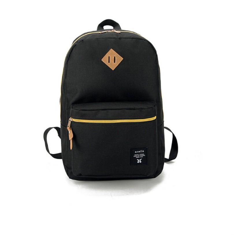 ~ ~anello 黑色樂天升級版爆款背包單雙肩女包學生兩用牛津布旅行書包