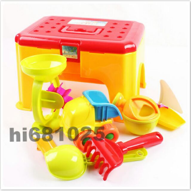 多 2 合1 手提便攜式遊戲椅玩具收納椅玩沙挖沙沙灘椅沙灘組