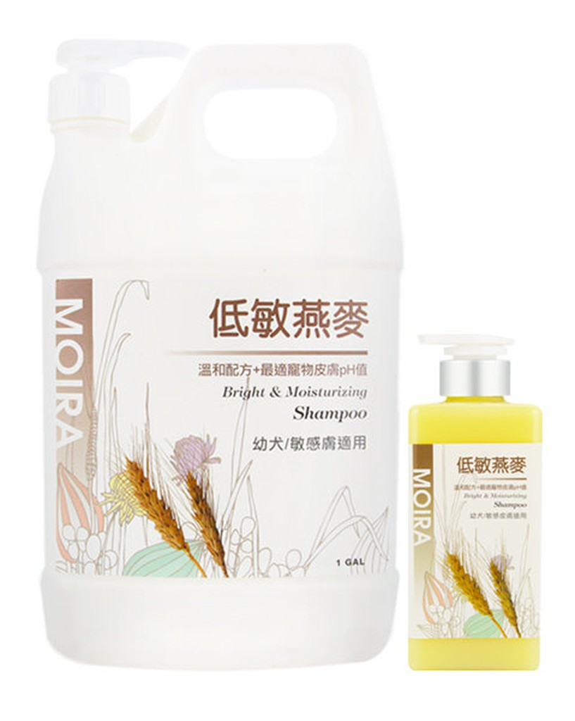 Petroyal 莫伊拉MOIRA 寵物沙龍級進階保養低敏燕麥幼犬敏感皮膚洗毛精500ML