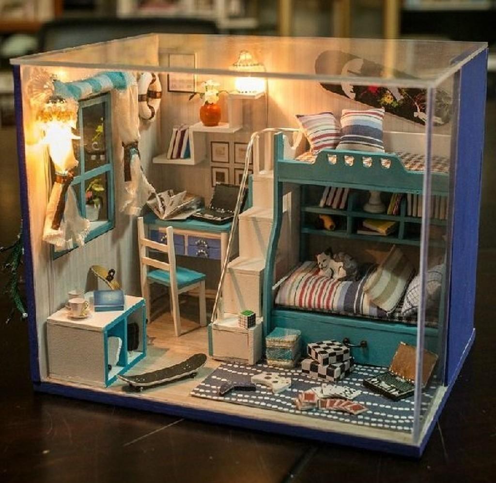 大旺小舖diy 袖珍娃娃屋材料包我的小伙伴們藍色系生日結婚 大台北可送貨