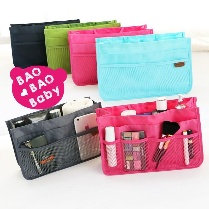 多彩 超多夾層包中包收納包化妝包小物包旅行包盥洗袋旅行袋手提包