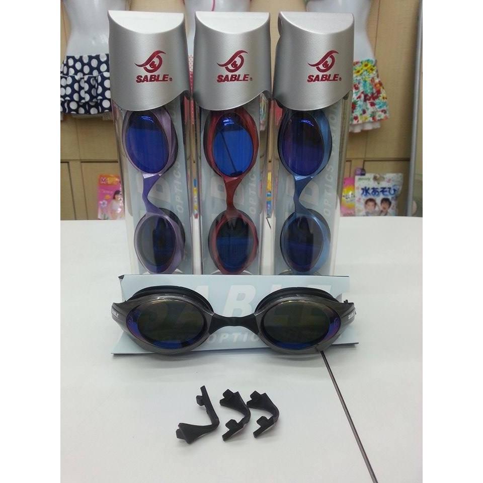 SABLE 黑貂100MT 大人競速型泳鏡3D 極致鍍膜鏡片紅黑藍紫864