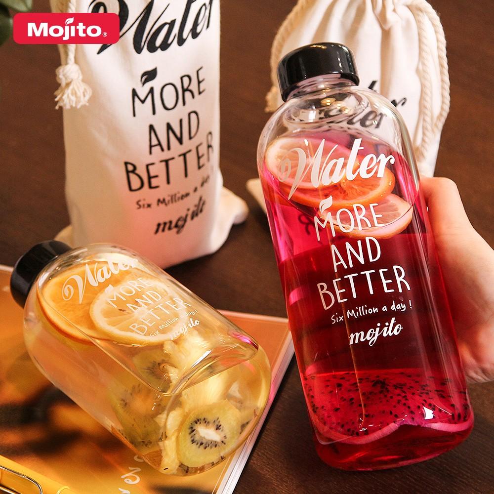 Mojito 果茶玻璃便攜隨行杯(含布套)500 1000ML TK GL500 TK G