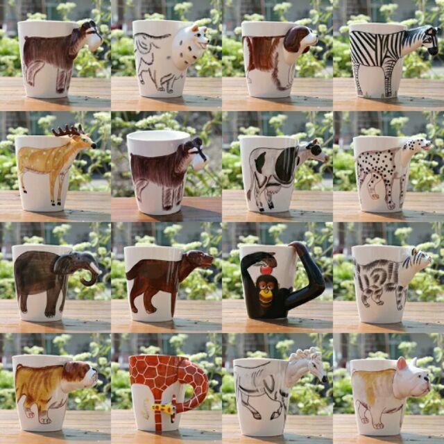 3D 動物杯瓷杯,各種款式,超可愛的