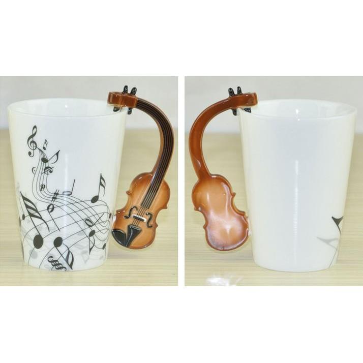 ~肥仔小窩~就是不一樣! 復古 杯樂譜杯小提琴杯小提琴音樂杯馬克杯陶瓷杯杯子水杯
