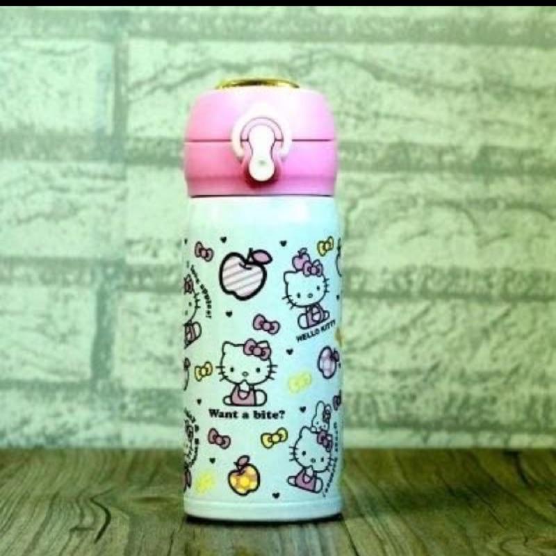 Hello Kitty 凱蒂KT 貓保溫杯不鏽鋼便攜熱水瓶防漏可愛卡通學生兒童水杯保溫瓶3