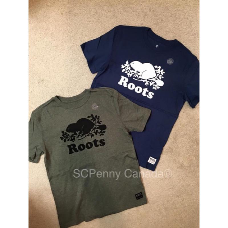 Roots 男大童XXL 短袖T shirt