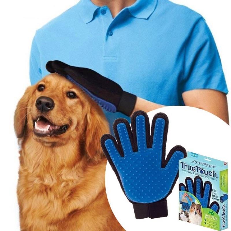 TureTouch 神奇寵物按摩除毛手套毛髮清潔整理手套貓狗寵物潔毛洗澡毛小孩寵物按摩手套