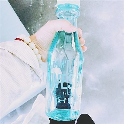 雙蓋吸管隨手杯糖果色清新夏天汽水瓶便攜水杯 zakka 塑料杯便攜水杯學生泡茶杯帶蓋茶隨手