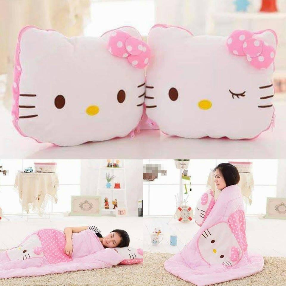 ❤hello Kitty 兩用抱枕毛毯棉被凱蒂貓咪療癒靠墊辦公室空調被子午安枕頭生日 韓國