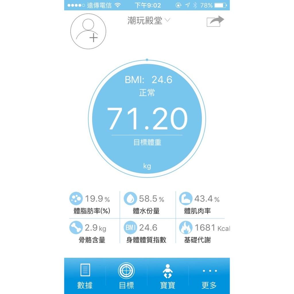 ㊣潮玩殿堂㊣REMAX RT S1 智能健康體重機體脂脂肪水份飢肉骨骼新陳代謝app 管理