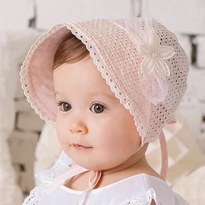 英國風情透氣帽子寶寶鏤空遮陽帽套頭帽宮廷帽寶寶兒童女童小童拍照攝影寫真生日 帽