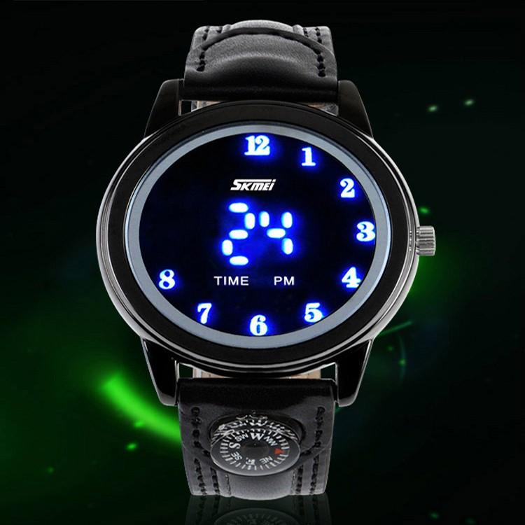 Z MO 鈦鋼屋SWC 056 超強防水LED 燈黑色手錶超省電模式SKMEI 正品 貨單