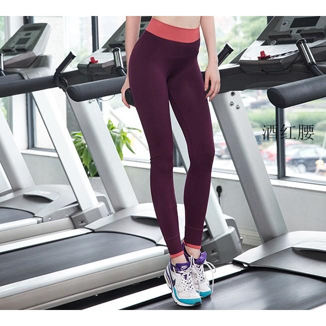 瑜珈健身房春夏跑步 速乾衣服透氣彈力顯瘦瑜伽褲女緊身九分褲
