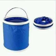 加大版13L 摺疊水桶洗菜桶伸縮水桶洗碗桶提水桶洗澡泡腳戶外露營野餐野炊烤肉登山