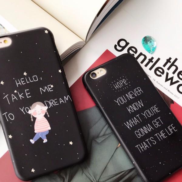 蘋果iphone6 7 星空女孩英文防摔手機殼~P032103 ~小王子手機殼