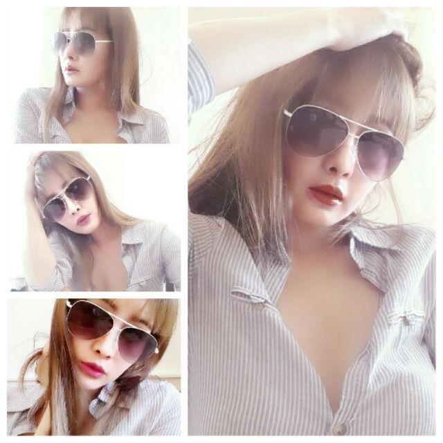 Choies  師針對亞洲人臉型白色雷朋太陽眼鏡走秀品9111